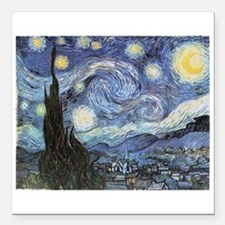 """Starry Night Square Car Magnet 3"""" x 3"""""""