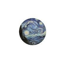 Starry Night Mini Button