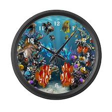 Aquarium Large Wall Clock
