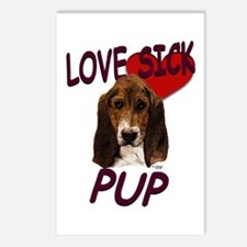 Love Sick Basset Postcards (Package of 8)