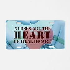 Nurses hearthealthcare Aluminum License Plate