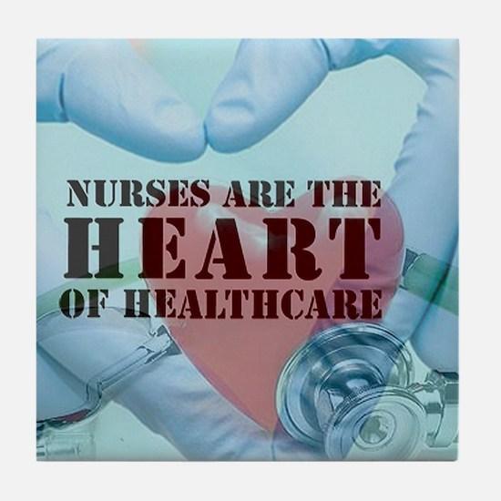 Nurses hearthealthcare Tile Coaster