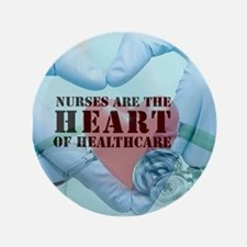 "Nurses hearthealthcare 3.5"" Button"