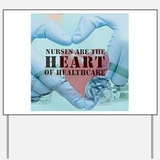 Nurses hearthealthcare Yard Sign