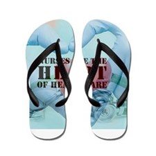 Nurses hearthealthcare Flip Flops
