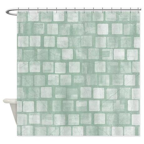 light green blocks shower curtain by verycute