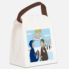 Ice Curling Popularity Canvas Lunch Bag