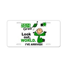 2014 Stick Grad 1.1 Green Aluminum License Plate