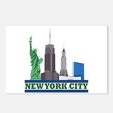 New York City Skyline Postcards (Package of 8)
