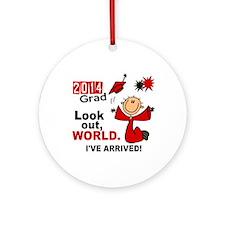 2014 Stick Grad 1.1 Red Ornament (Round)