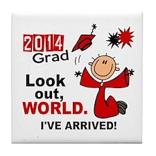 2014 Stick Grad 1.1 Red Tile Coaster