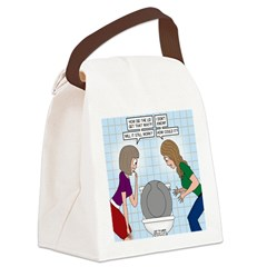 Toilet Seat Lid Dilemma Canvas Lunch Bag