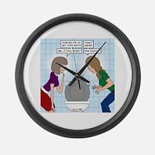 Toilet Seat Lid Dilemma Large Wall Clock