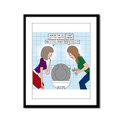 Toilet Seat Lid Dilemma Framed Panel Print