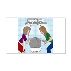 Toilet Seat Lid Dilemma Wall Decal