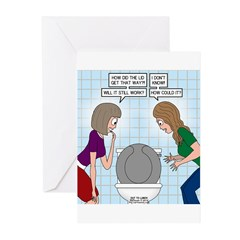 Toilet Seat Lid Dilemma Greeting Cards (Pk of 10)