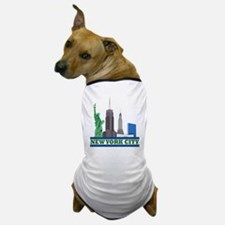 New York City Skyline Dog T-Shirt