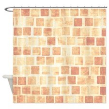 Faded Brick Blocks Shower Curtain