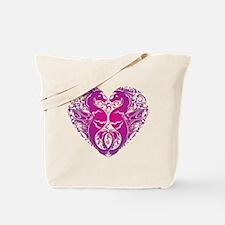 Pink Seahorse Heart Tote Bag