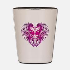 Pink Seahorse Heart Shot Glass