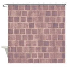 Purple Blocks Shower Curtain