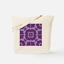 Dragonfly Pattern Tile Tote Bag