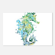 Paisley Seahorse Postcards (Package of 8)