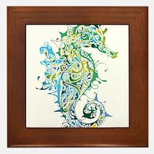 Paisley Seahorse Framed Tile