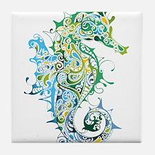 Paisley Seahorse Tile Coaster