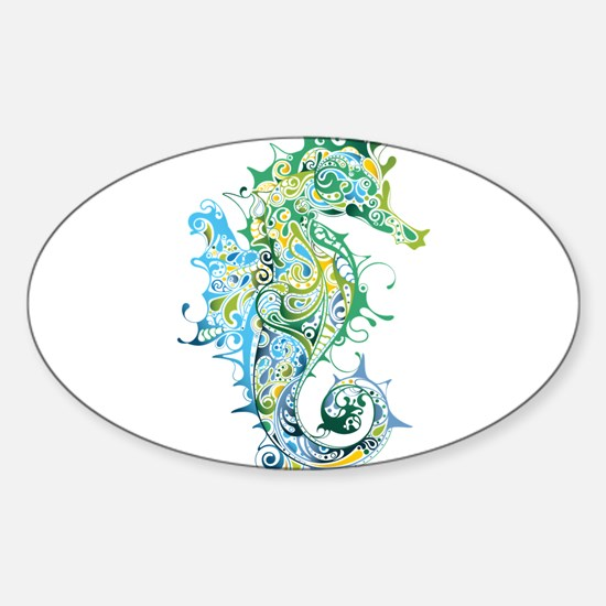 Paisley Seahorse Decal