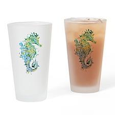 Paisley Seahorse Drinking Glass