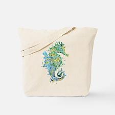 Paisley Seahorse Tote Bag