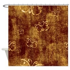 Rustic Antique Butterfly Shower Curtain