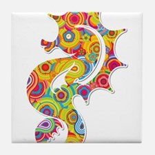 Multi Color Seahorse Tile Coaster
