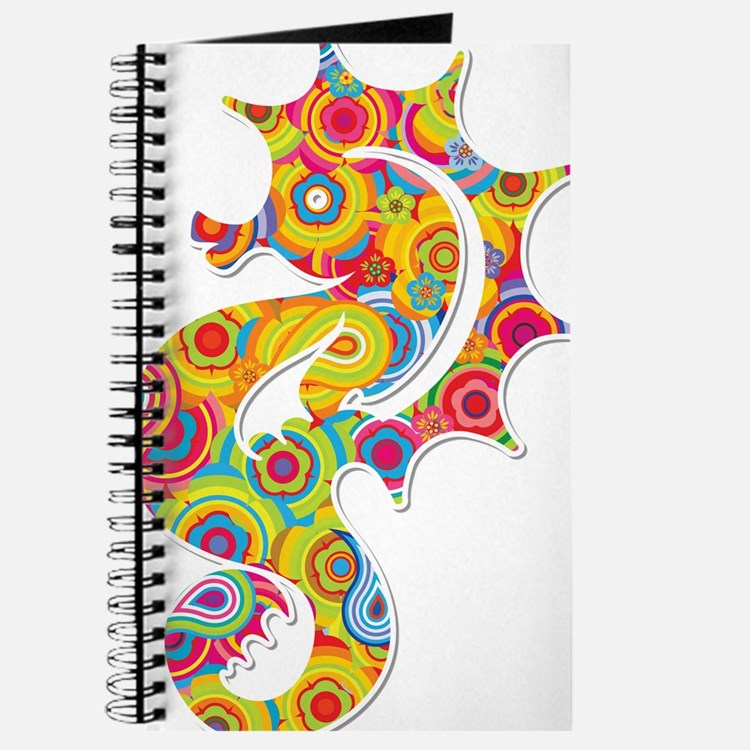Multi Color Seahorse Journal