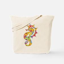 Multi Color Seahorse Tote Bag