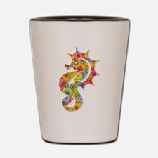 Multi Color Seahorse Shot Glass