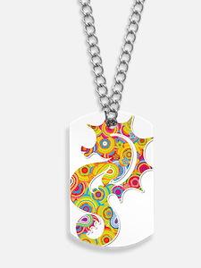 Multi Color Seahorse Dog Tags