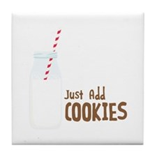 Just Add COOKIES Tile Coaster