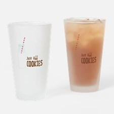 Just Add COOKIES Drinking Glass