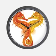 Seahorse Dance Wall Clock