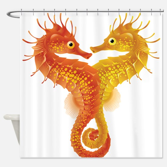 Seahorse Dance Shower Curtain