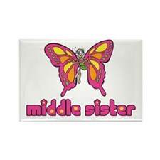 Middle Sister Butterfly Rectangle Magnet