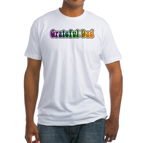 Grateful Dad Fitted T-Shirt