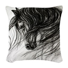 Mane Dance Woven Throw Pillow