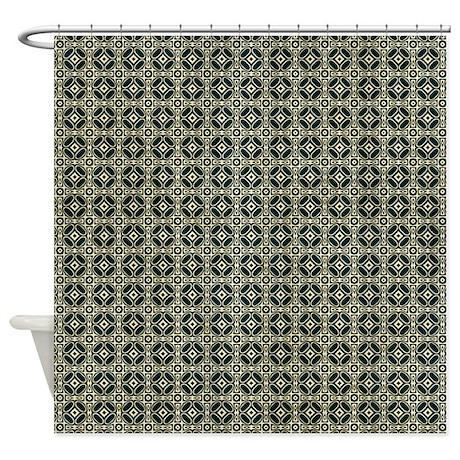 Fancy Wallpaper Shower Curtain by VeryCute