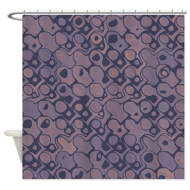 Abstract Mauve Shower Curtain by VeryCute
