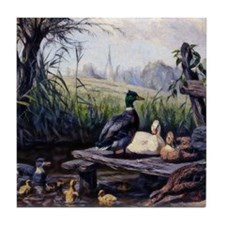 Ducks on the Pond Tile Coaster