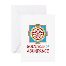 Goddess Of ABUNDANCE Greeting Cards