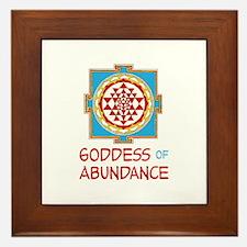 Goddess Of ABUNDANCE Framed Tile